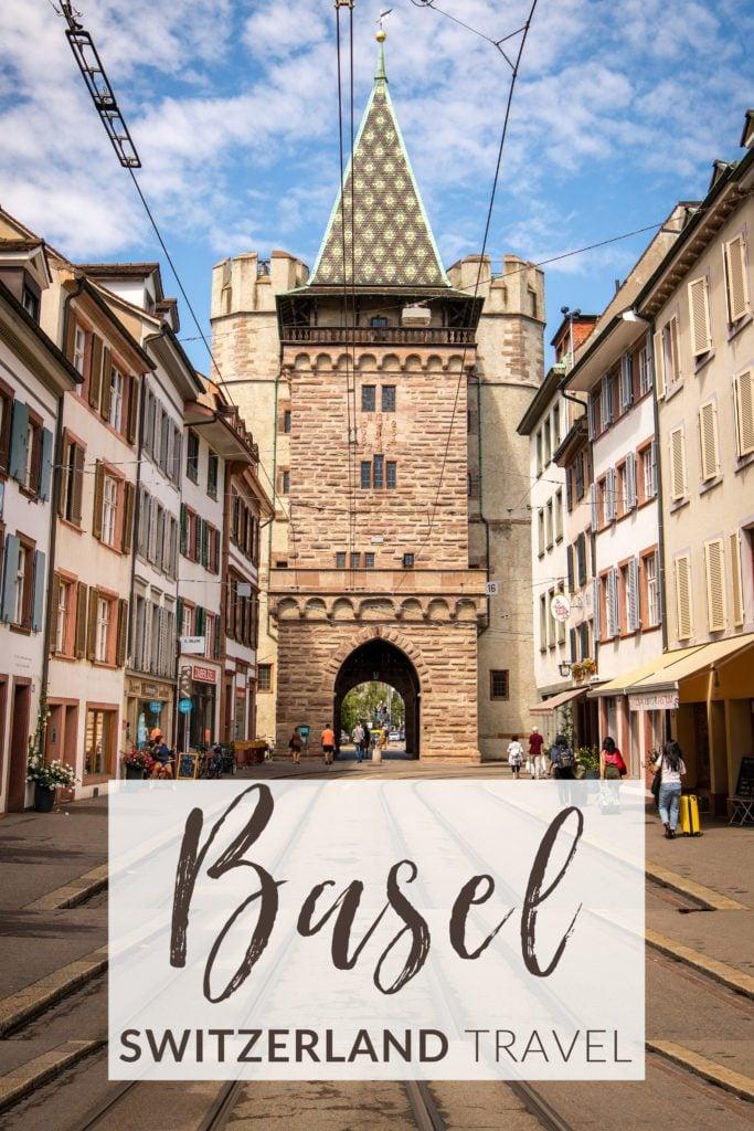 Weekend in Basel, Switzerland travel guide pinterest image.