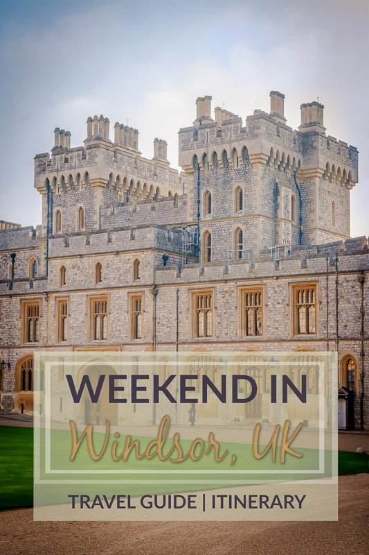 Weekend in Windsor pinterest pin image