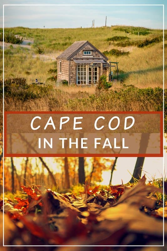 Cape Cod in the fall pinterest image