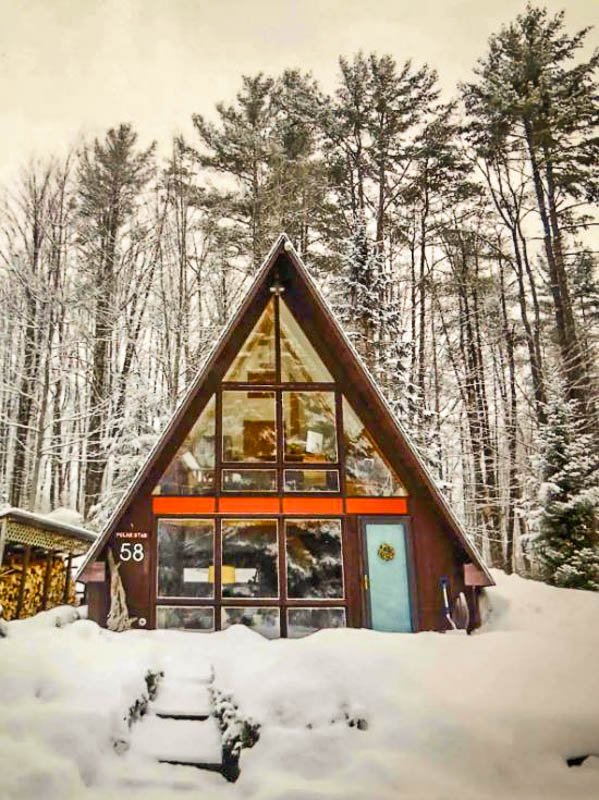 Amazing A-frame Airbnb in the White Mountains.