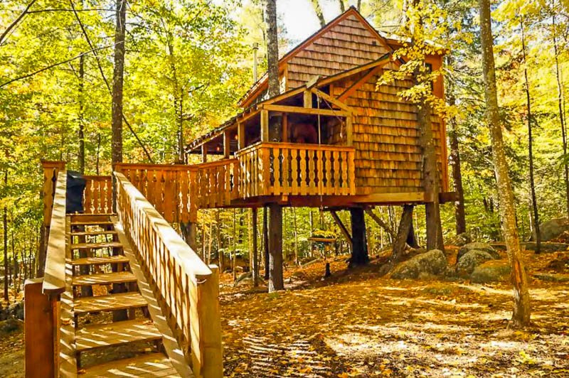 Beautiful vacation rental in the trees.