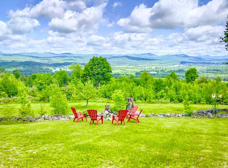 incredible mountain views in new hampshire.