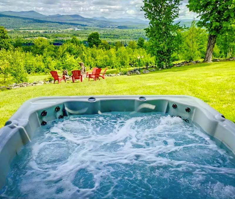 jacuzzi tucked away in the mountains.
