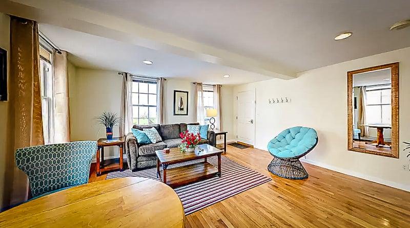 A beautiful Airbnb in Newport, Rhode Island.