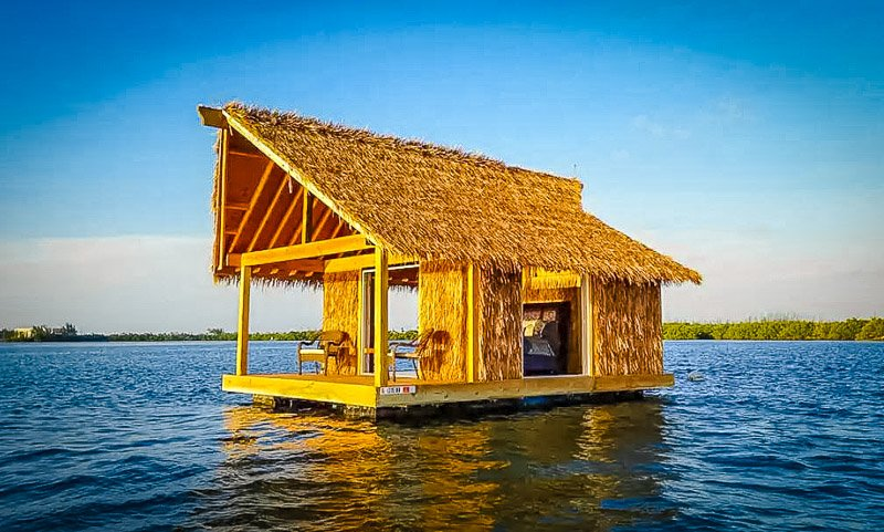 A floating Airbnb home in Florida.