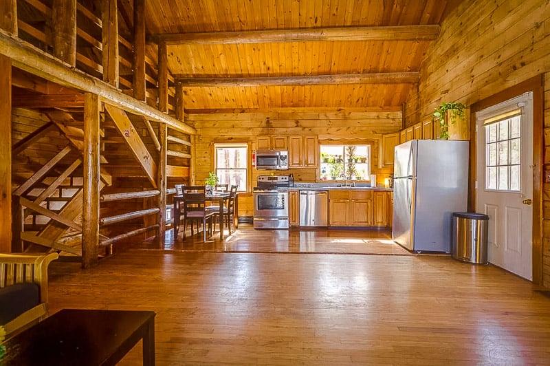 This log cabin in Massachusetts feels a bit like a treehouse