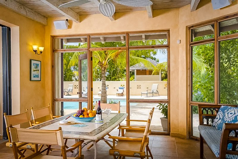 Elegant furnishings inside this deluxe vacation rental