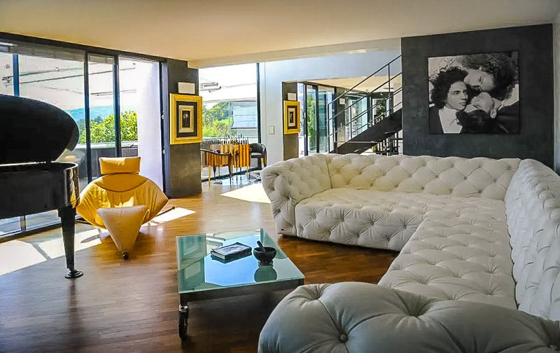 Elegant interior living space inside the vacation rental