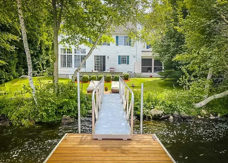 A beautiful Airbnb lake house in Rhode Island.