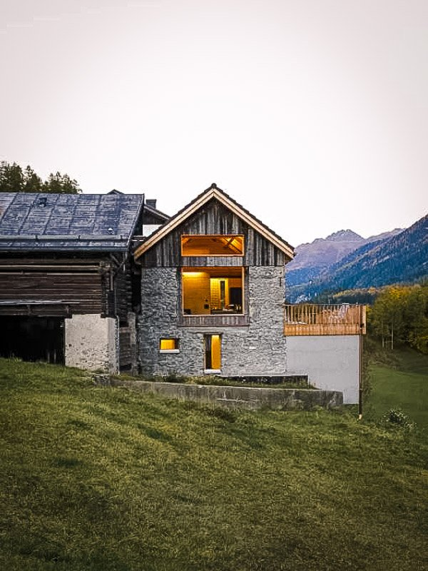 A mountain chalet in the heart of the Swiss Alps.