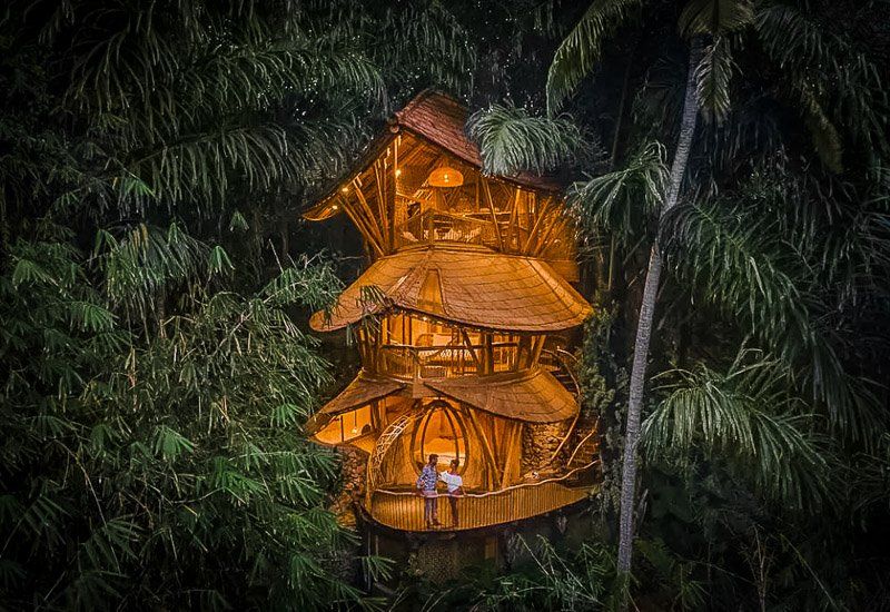 This bamboo house is definitely one of the best Airbnbs in the world.
