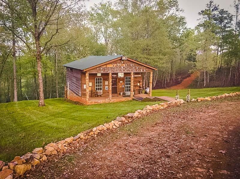 A cozy cabin in Georgia's countryside.