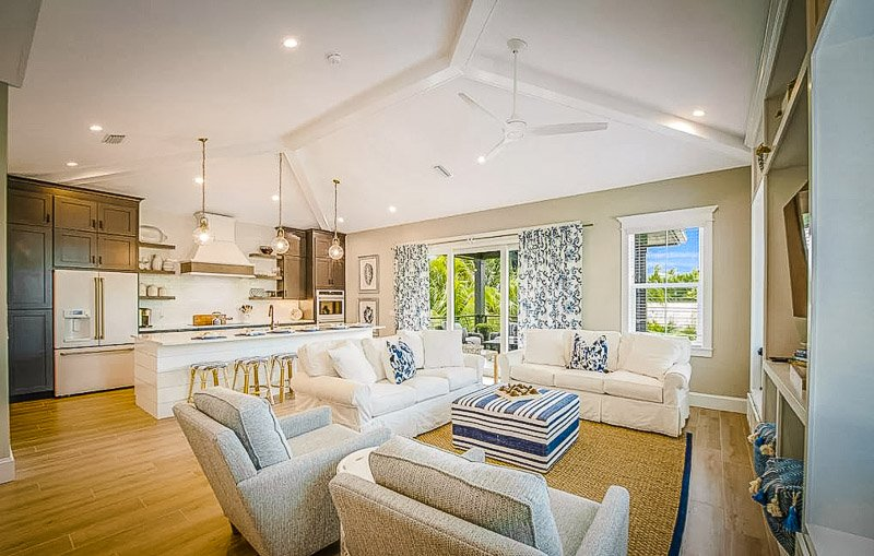 Elegant beach house accommodation that's among the most unique Airbnbs in Florida