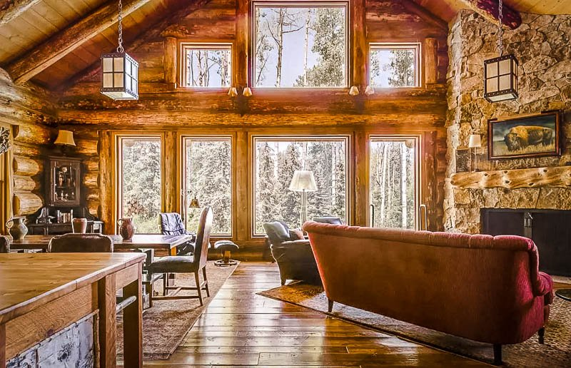 A warm and cozy cabin vibe