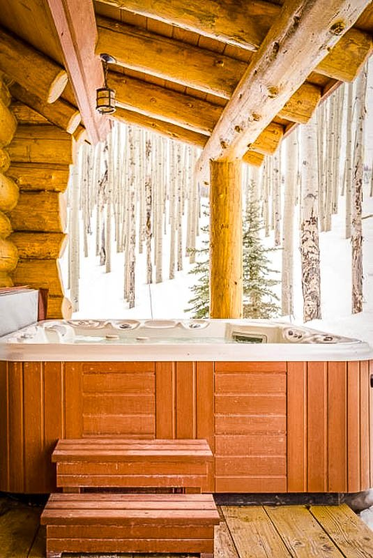 Colorado Airbnb rental with a hot tub outside
