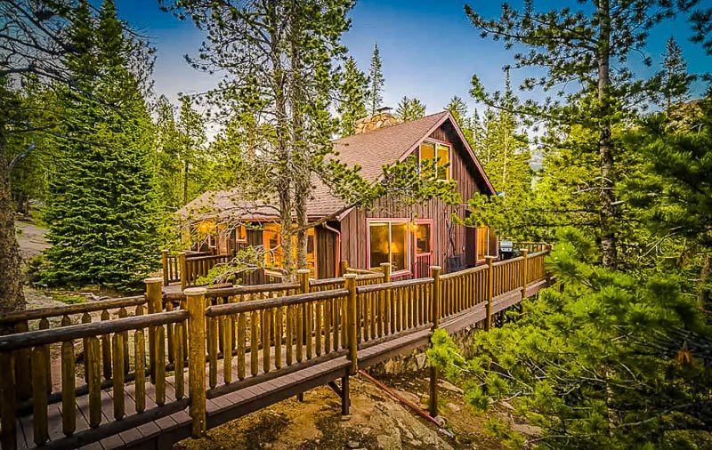 A secluded Airbnb cabin in Colorado.