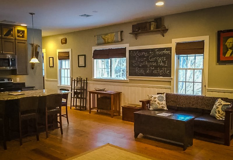 Classroom vibes inside this Rhode Island vacation rental
