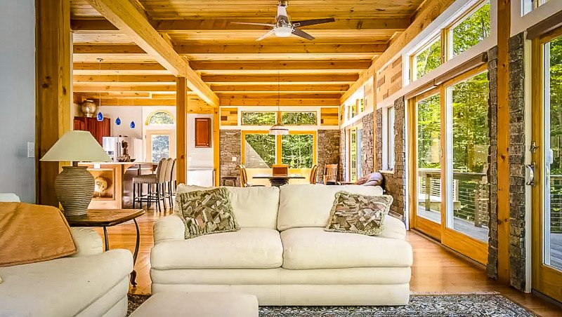 Beautiful furnishings inside this vacation rental in the mountains