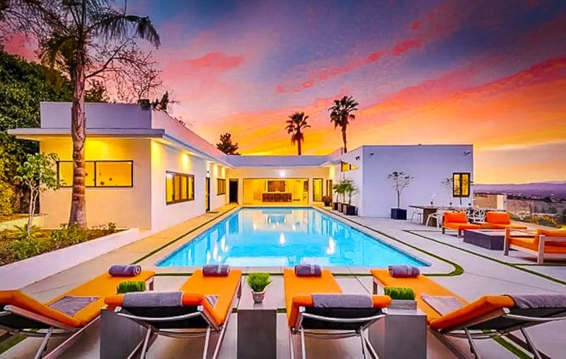 Beautiful pool area.