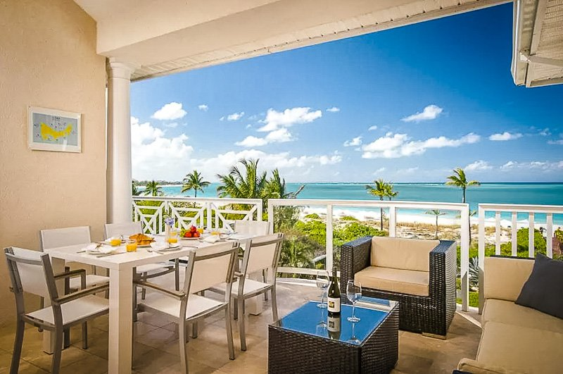 This beachfront penthouse is among the top Airbnbs in Turks and Caicos.