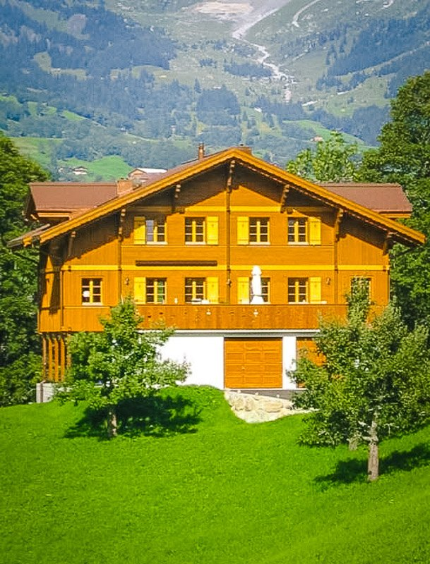 Luxurious chalet turned Airbnb in Grindelwald, Switzerland