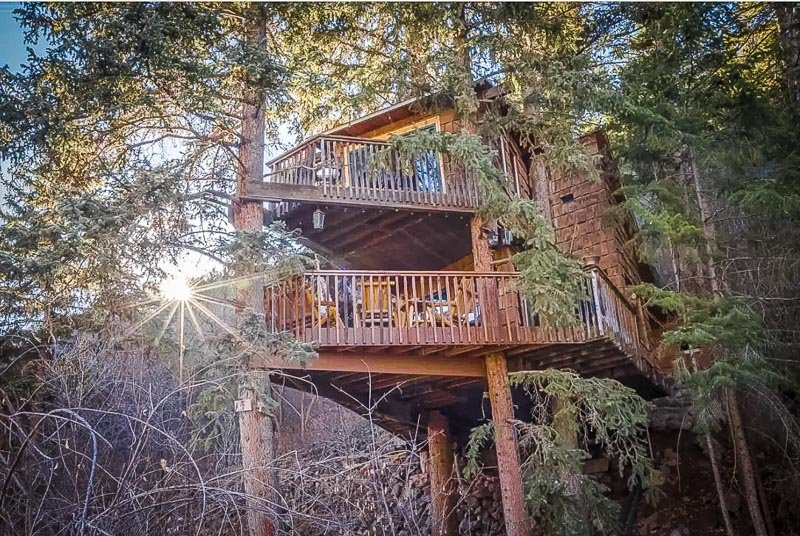 One of the coolest treehouse Airbnbs in Colorado
