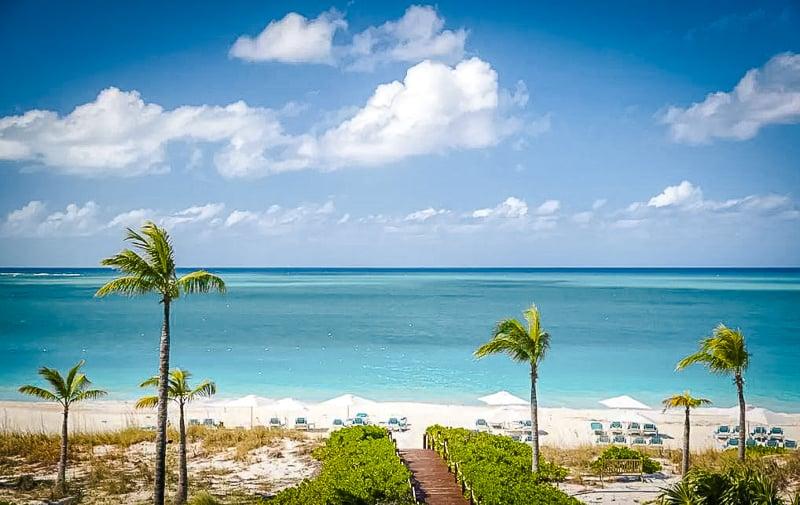 Beautiful villa overlooking the Caribbean Sea