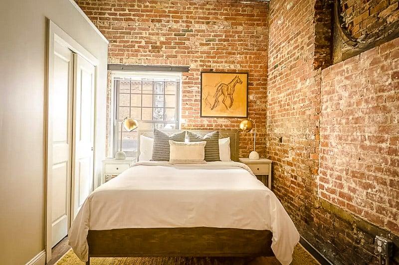 Cool industrial style bedroom