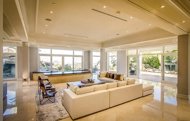 Elegant furnishings inside this luxury estate