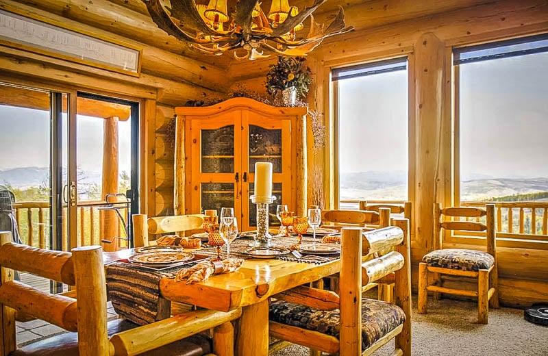 Elegant interior living space inside the vacation rental