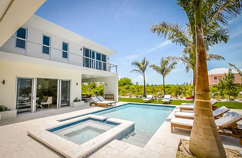 Breathtaking pool area in Turks and Caicos