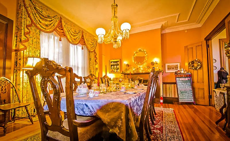 Ornate decorations inside this historic home in Newport, RI