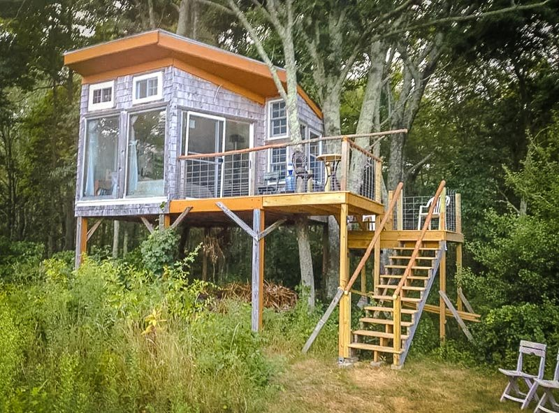 A unique Airbnb treehouse near Providence, Rhode Island.