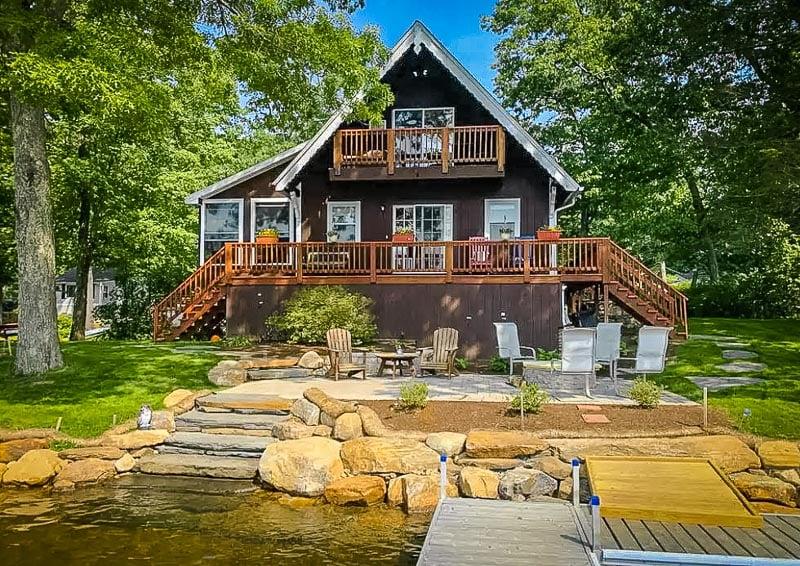 Lake House A-Frame cabin in Massachusetts.