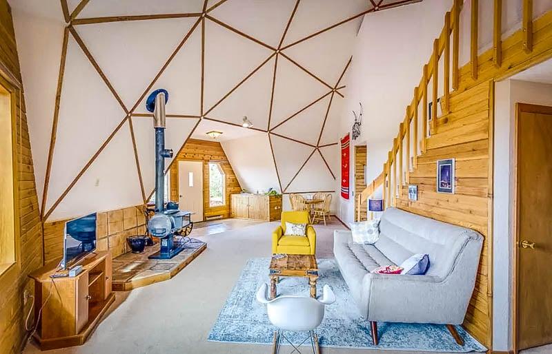 Unique interior designs inside the geo dome