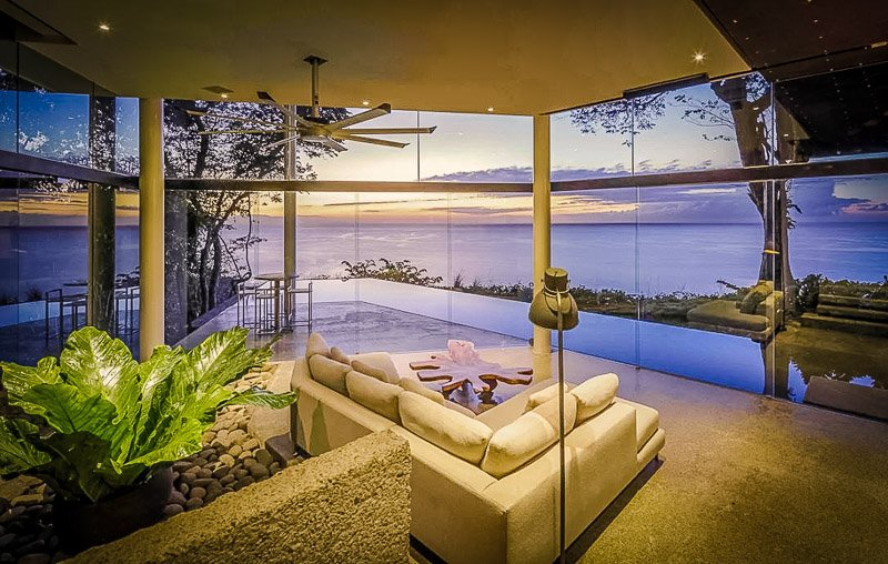 A luxury villa with amazing views