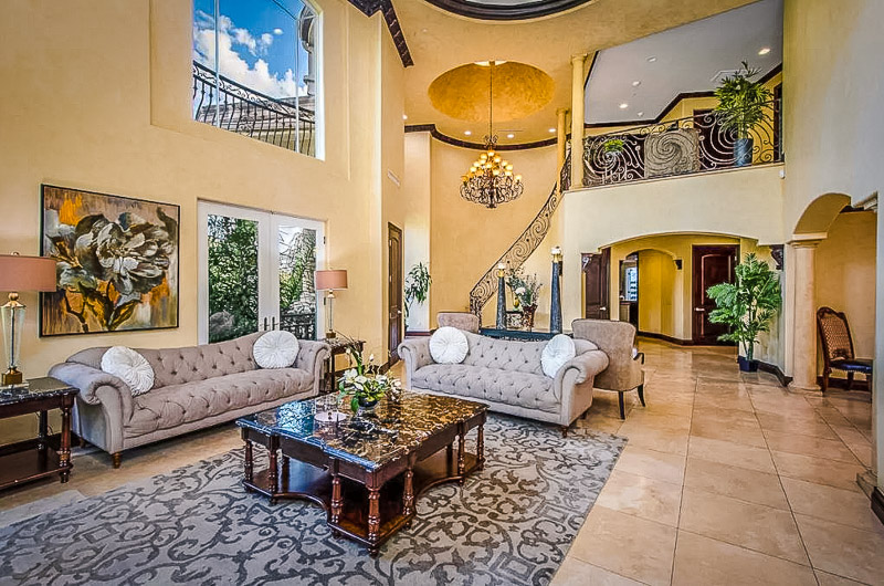 Stunning interior decor inside this gated mansion