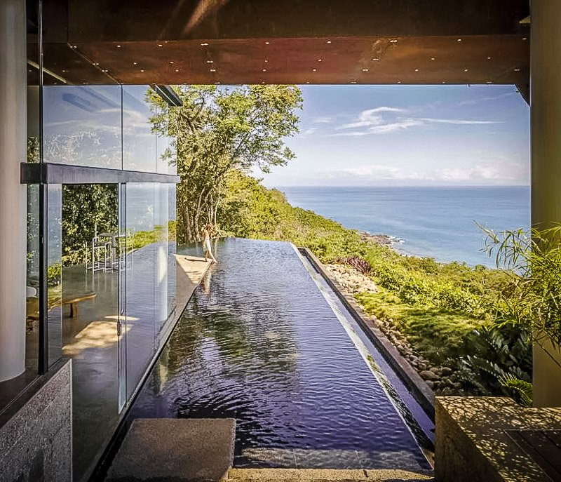 One of the most beautiful views of the beach from this luxury rental