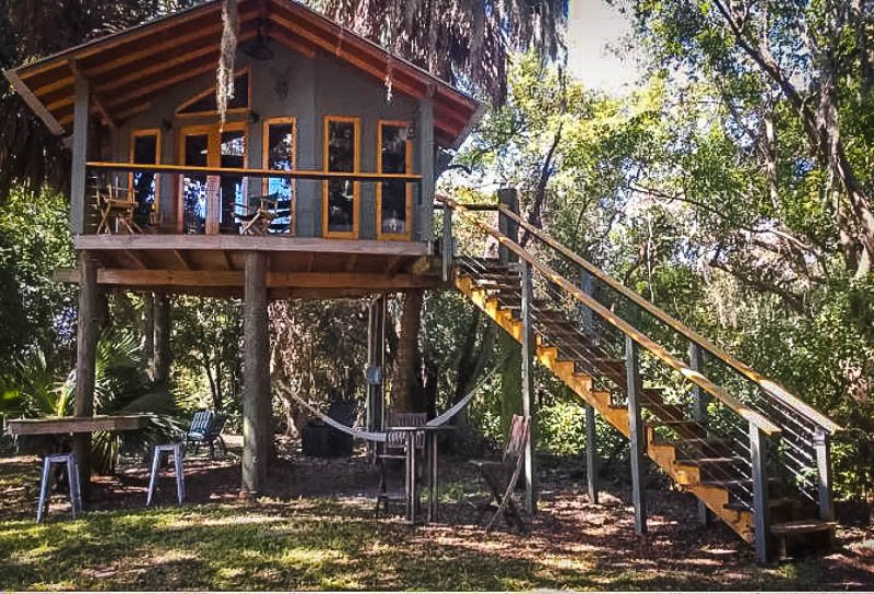 A unique Airbnb treehouse in Florida.