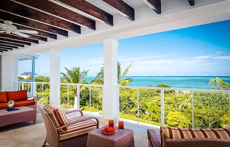 Beautiful interior decor and sweeping island views
