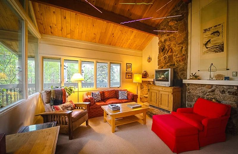Beautiful interior furnishings inside the rental home