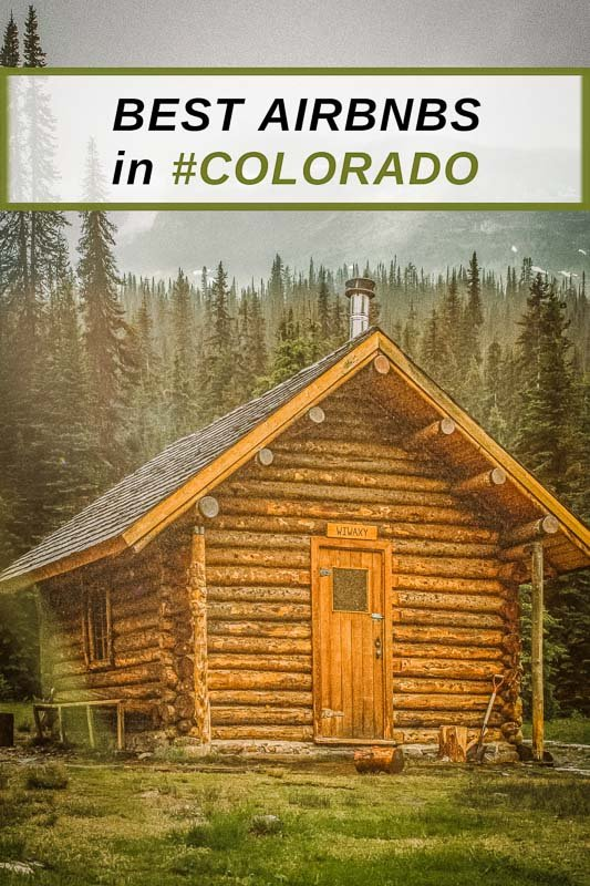 Coolest Airbnbs in Colorado pinterest pin photo