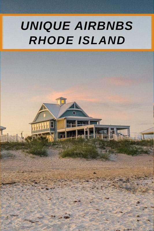 Best Airbnbs in Rhode Island pinterest pin photo