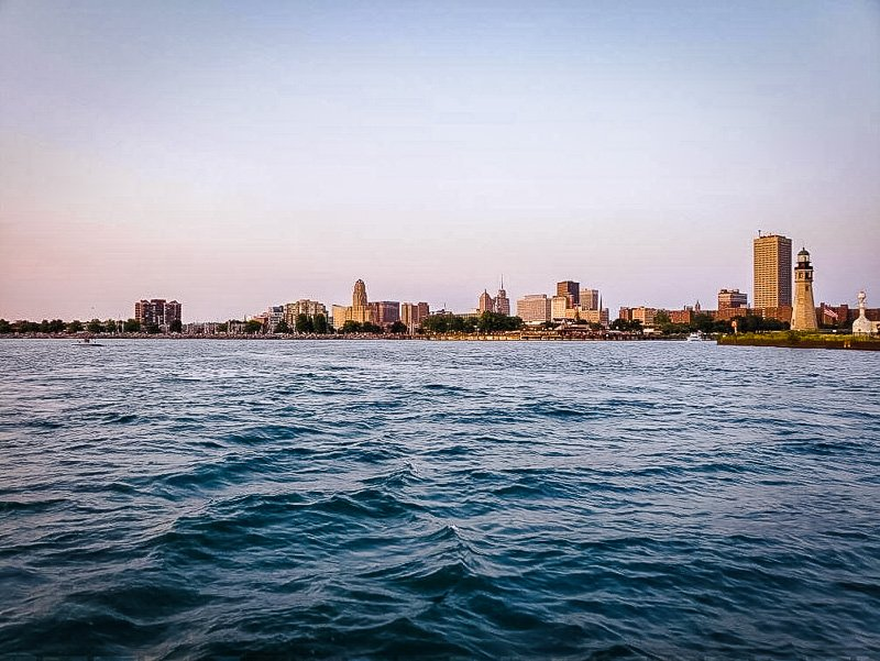 Canalside is a beautiful waterfront area in Buffalo, New York.