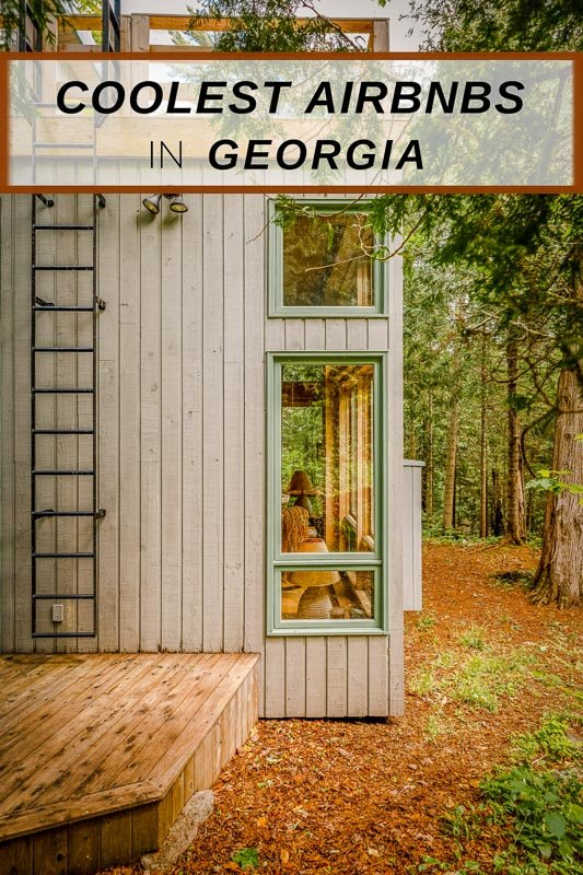 Best Airbnbs in Georgia pinterest photo pin