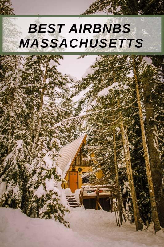 Best Airbnbs in Massachusetts pinterest image