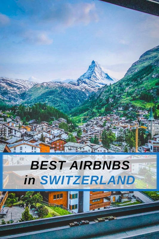 The coolest Airbnbs in Switzerland pinterest image