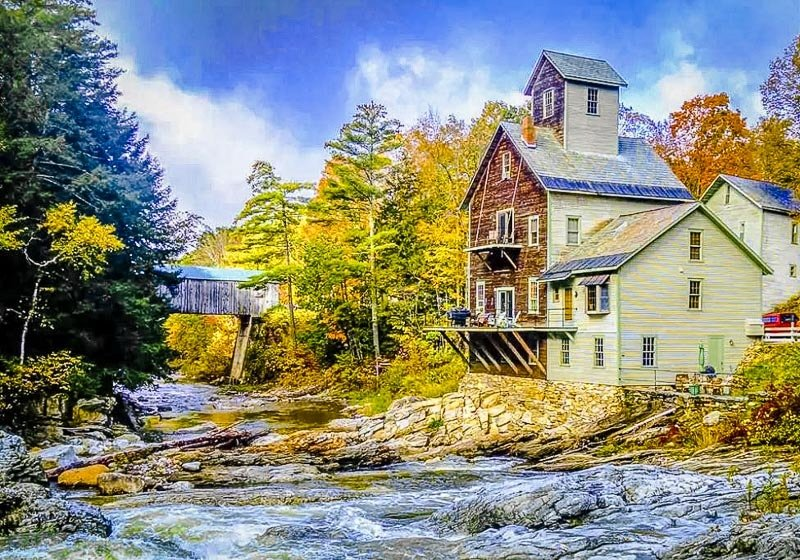 Grist mill Airbnb in Vermont.