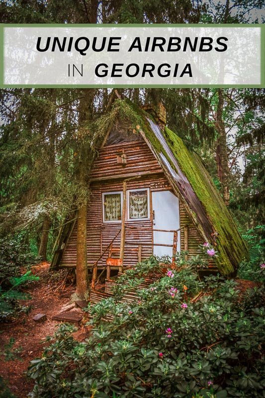 Best Airbnbs in Georgia pinterest photo