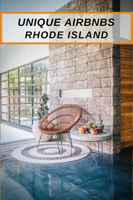Unique Airbnbs in Rhode Island pinterest image